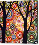 Abstract Modern Tree Landscape Distant Worlds By Amy Giacomelli Canvas Print