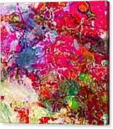 Abstract Multi Floral Canvas Print