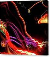 Abstract Neon Lights Canvas Print