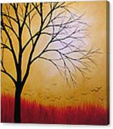 Abstract Original Tree Painting Summers Anticipation By Amy Giacomelli Canvas Print