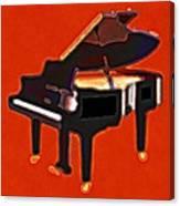 Abstract Piano Canvas Print