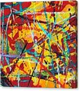 Abstract Pizza 1 Canvas Print