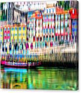 abstract Portuguese city Porto-1 Canvas Print