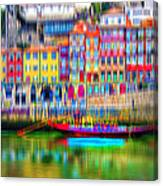 abstract Portuguese city Porto-3 Canvas Print