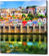 abstract Portuguese city Porto-5 Canvas Print