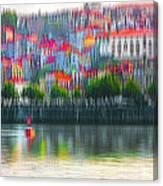 abstract Portuguese city Porto-6 Canvas Print
