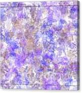 Abstract Purple Splatters Canvas Print