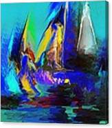 Abstract Regatta Canvas Print