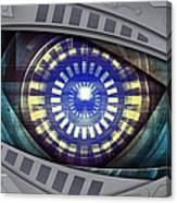 Abstract Robot Eye Canvas Print