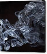 Abstract Smoke Running Horse Canvas Print