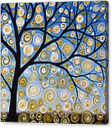 Abstract Tree Nature Original Painting Starry Starry By Amy Giacomelli Canvas Print