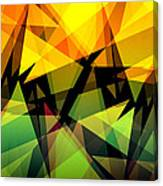 Abstract Triangle Colorful Background Canvas Print