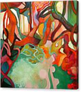Abstraction Of Dance Canvas Print
