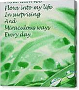 Abundance Affirmation Canvas Print