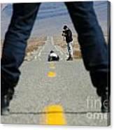 Accident Scene Photographer Canvas Print