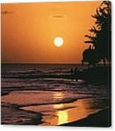 Accra Beach Sunset Canvas Print