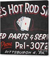 Ace's Hot Rod Shop Canvas Print