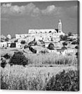 Achna Abandoned Greek Village Now Within The Un Buffer Zone In The Green Line Dividing Cyprus Canvas Print
