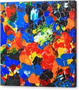 Acrylic Abstract Upon Wood Canvas Print