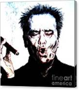 Actor Jack Nicholson Smoking  II Canvas Print