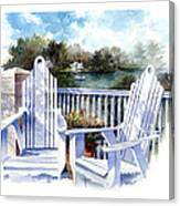 Adirondack Chairs Too Canvas Print