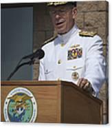 Admiral Mike Mullen Speaks Canvas Print