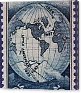 Admiral Richard Byrd Postage Stamp Canvas Print