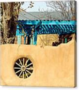 Adobe Wall Wheel Canvas Print