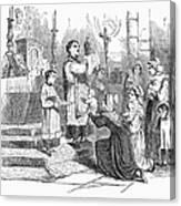 Adoration Of Relics Canvas Print