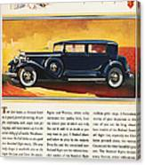 Ads: Packard, 1932 Canvas Print