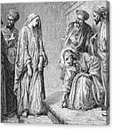 Adulterous Woman Canvas Print