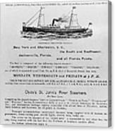 Advertisement: Steamship Canvas Print