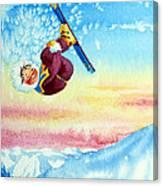 Aerial Skier 13 Canvas Print