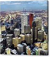 Aerial View From Cn Tower Toronto Ontario Canada Canvas Print