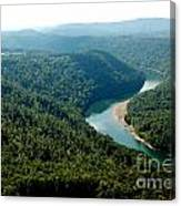 Aerial View Gauley River Canvas Print