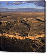 Aerial View Of Chaco Canyon And Ruins Canvas Print