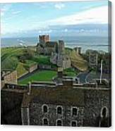 Aerial View Of Dover Castle Canvas Print