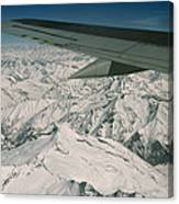 Aerial View Of Himalaya From Plane En Canvas Print