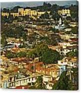 Aerial View Of Santiago De Cuba, Cuba Canvas Print