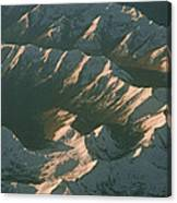 Aerial View Of Snowcapped Mountain Canvas Print