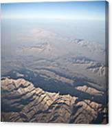 Aerial View Of The Mountainous Canvas Print