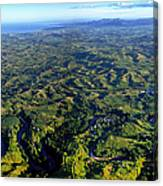 Aerial View Of The Nadi River Winding Canvas Print