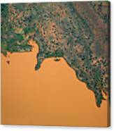 Aerial View Of Uncultivated Landscape Canvas Print