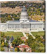 Aerial View Of Utah State Capitol Building Canvas Print