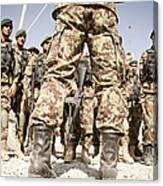 Afghan Air Force Members Get Briefed Canvas Print
