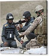 Afghan Police Students Assemble A Rpg-7 Canvas Print