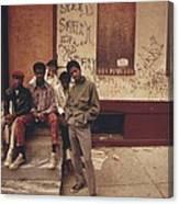 African American Teenage Street Gang Canvas Print