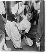 African American Woman Resisting Canvas Print