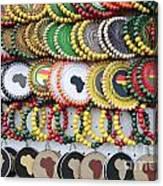 African Beaded Earrings Canvas Print