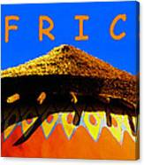 African Dwelling Canvas Print